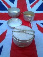 MILITARY CIRCULAR MESS TIN SET X 3